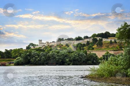 Kalemegdan fortress in Belgrade stock photo, Kalemegdan fortress in Belgrade seen from Danube river by Elena Elisseeva