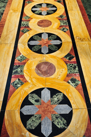 Marble church floor stock photo, Marble floor of orthodox christian St. George church in Topola, Serbia by Elena Elisseeva