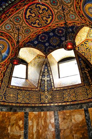 Church interior stock photo, Interior of orthodox christian St. George church in Topola, Serbia by Elena Elisseeva