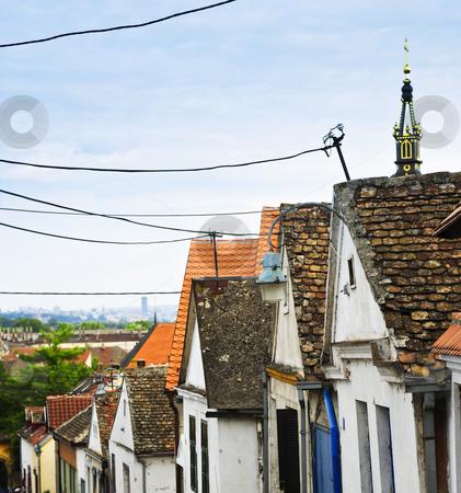 Zemun rooftops in Belgrade stock photo, Old building roofs in Zemun part of Belgrade, Serbia by Elena Elisseeva