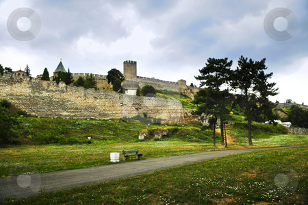 Kalemegdan fortress in Belgrade stock photo, Kalemegdan fortress in Belgrade with walking path by Elena Elisseeva
