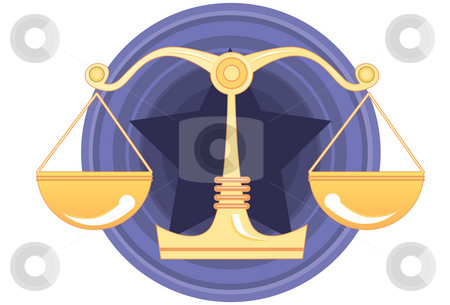 Justice, Jury and Verdict stock photo, An image of scales of justice by Verapol Chaiyapin
