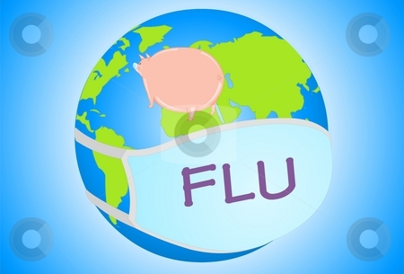 Swine Flu stock photo, Fever, Sickness, Flu, Temperature, Vaccine, Vaccination, Ailment, Epidemic, by Verapol Chaiyapin