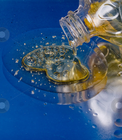 Oil and Water Don't Mix stock photo, Oil and Water Don't Mix by Jim DeLillo