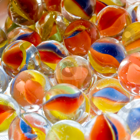 Colored Marbles stock photo, Colored Marbles by Jim DeLillo
