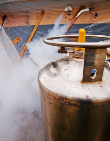 Liquid Nitrogen Tank stock photo, Liquid Nitrogen Tank by Jim DeLillo