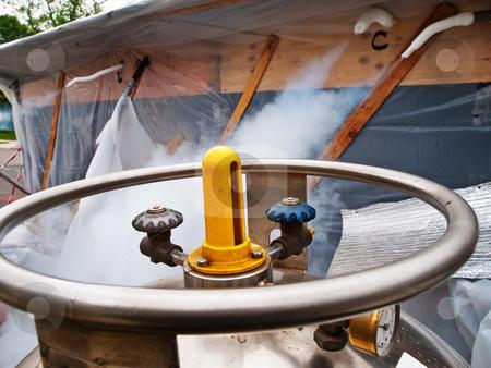 Liquid Nitrogen Tank stock photo, Liquid Nitrogen Tank by Jim DeLillo