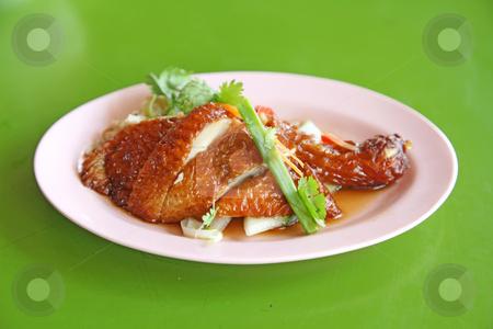 Singapore Roast Chicken stock photo, Singapore Roast Chicken as Roadside Hawker Food by Kheng Ho Toh