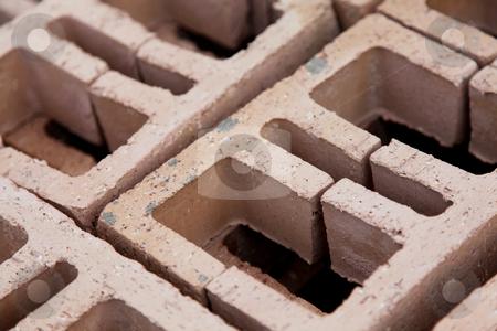 Brick stock photo, Close up of bricks. Construction concept. Background by Giuseppe Ramos