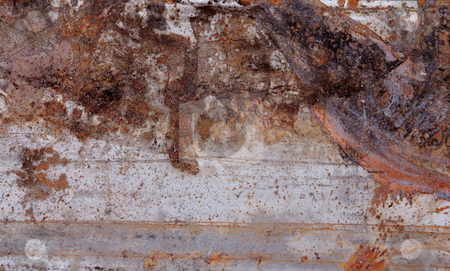 Rusty metal stock photo, Texture of an old piece of rusted metal by Giuseppe Ramos