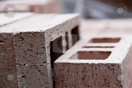 Bricks stock photo, Close up of bricks. Construction concept. Background by Giuseppe Ramos