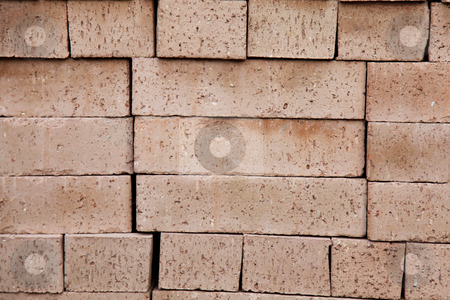 Bricks stock photo, Brown bricks texture. Concept Construction. Abstract background by Giuseppe Ramos