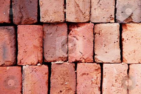 Bricks stock photo, Orange texture of old bricks. Abstract background by Giuseppe Ramos