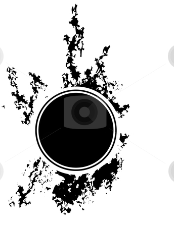 Black Hole stock vector clipart, Black hole on ink an sponge background. by Jeffrey Thompson