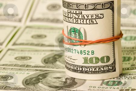 Money stock photo, Money series: hudreds of green dollar texture by Gennady Kravetsky