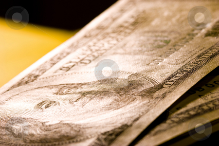 Dollars stock photo, Money series: macro view of some hundred dollars by Gennady Kravetsky