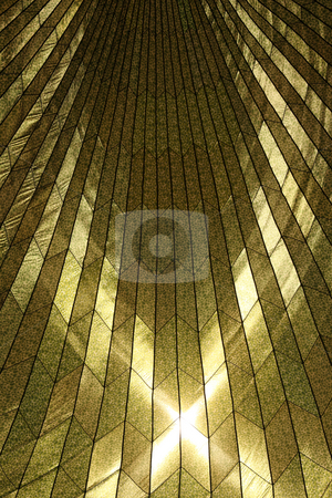 Sunlit Pattern Resembling Stained Glass stock photo, Sunlit Pattern Resembling Stained Glass of a Military Parachute With Sunlight Shining Through by Katrina Brown