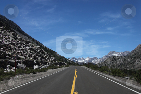 Driving in the Eastern Sierra Mountains stock photo, Daytime Driving in the Eastern Sierra Mountains by Katrina Brown