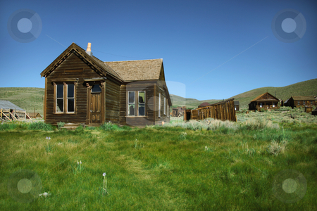 Vacant Town Home in Bodie California stock photo, Ghost Town Home in Bodie California by Katrina Brown