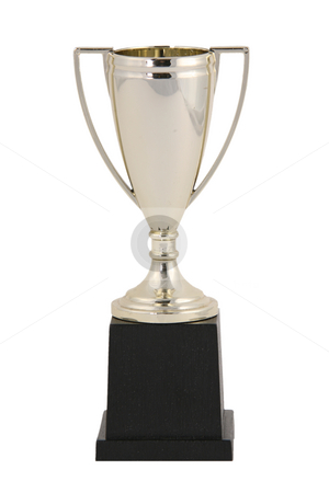 Blank Golden Trophy stock photo, Blank Golden Trophy Isolated on White by Katrina Brown