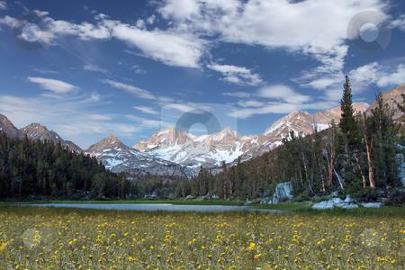 Snow on the Eastern Sierra Mountains stock photo, Snow Caps on the Eastern Sierra Mountains by Katrina Brown