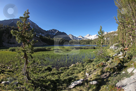Eastern Sierras at Heart Lake stock photo, Beautiful Eastern Sierras at Heart Lake by Katrina Brown