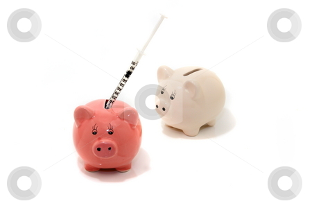 Swine Flue stock photo, Waiting in line for the Swine flue vaccination concept by Jack Schiffer