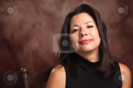 Attractive Hispanic Woman Portrait stock photo, Attractive Hispanic Woman Studio Portrait. by Andy Dean