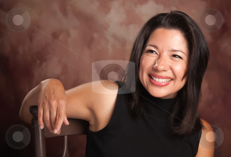 Attractive Hispanic Woman Portrait stock photo, Attractive Hispanic Woman Studio Portrait. by Andy Dean