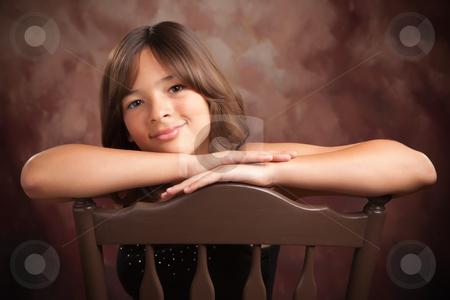 Pretty Hispanic Girl Portrait stock photo, Pretty Hispanic Girl Studio Portrait by Andy Dean