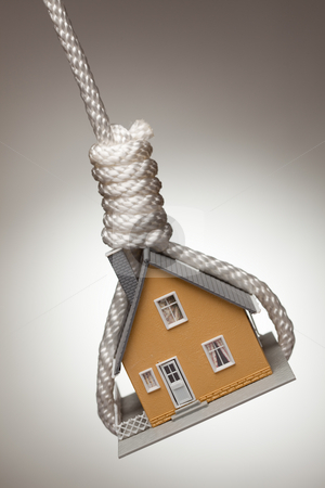 House Tied Up and Hanging in Noose stock photo, House Tied Up and Hanging in Hangman's Noose. by Andy Dean