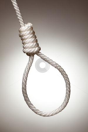 Hangman's Noose stock photo, Hangman's Noose on a Spot Lit Background. by Andy Dean