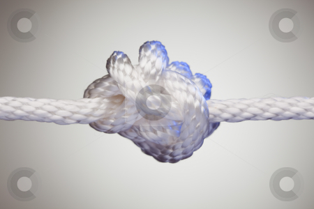 Nylon Rope Knot stock photo, Nylon Rope Knot on a Spot Lit Background. by Andy Dean