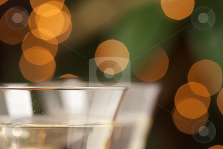 Champagne Glasses Abstract stock photo, Champagne Glasses Abstract with Sparkling Lights in the Background. by Andy Dean