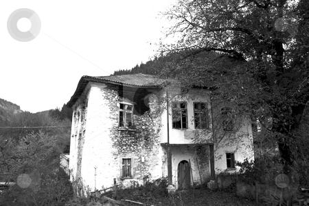 Ruined old house stock photo, Old style village in autumn Bulgaria by Desislava Dimitrova