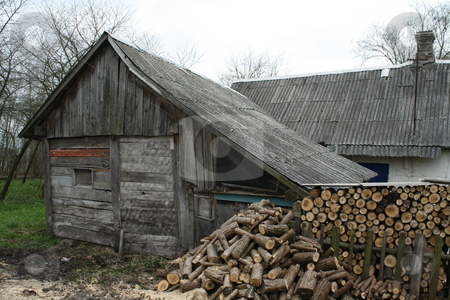 Old house stock photo, The old thrown house in village. by Olena Kornyeyeva