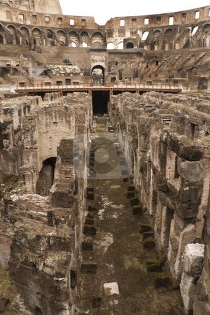 Roman Coliseum stock photo, The historic Roman coliseum located in Rome (Roma) Italy by Kevin Tietz