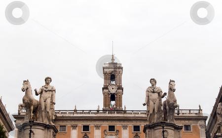 Piazza di Campidoglio stock photo, Piazza di Campidoglio is a wonderful space by Michelangelo Buonarroti in Rome, Italy by Kevin Tietz