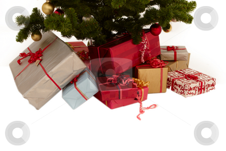 Christmas tree - presents under a tree stock photo, Christmas tree - gifts under a tree by Phillip Dyhr Hobbs