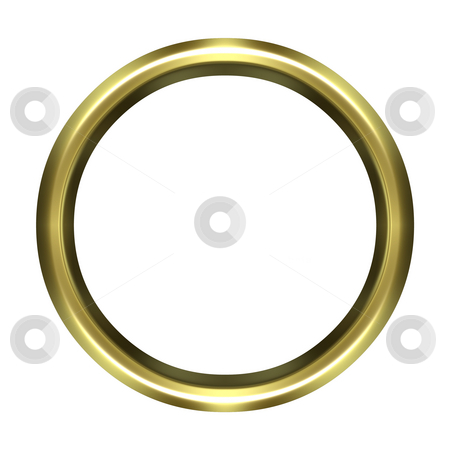 Golden Ring stock photo, 3d golden ring isolated in white by Georgios Kollidas