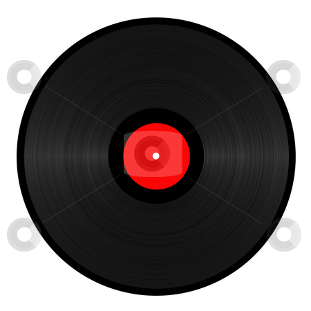 Vinyl Record stock photo, Vinyl record isolated in white by Georgios Kollidas