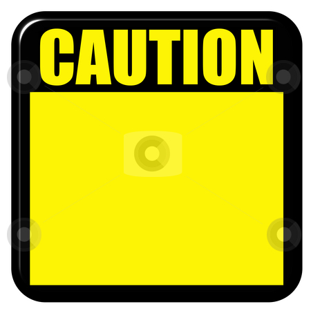 3D Caution Sign stock photo, 3d caution sign isolated in white by Georgios Kollidas