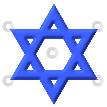 Star of David stock photo, Star of david isolated in white by Georgios Kollidas