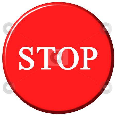 Stop Button stock photo, Stop button isolated in white by Georgios Kollidas