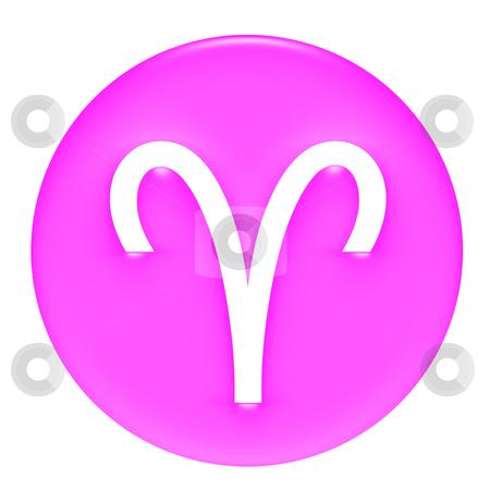 Aries stock photo, Aries 3D Pink Gel Framed by Georgios Kollidas
