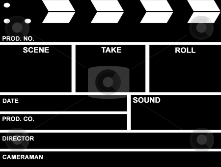 Film Clap Board stock photo, Film clap board close up by Georgios Kollidas