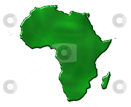 Map Of Africa 3d.3d Ecological Africa Map Stock Photo