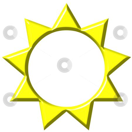 3D Sun  stock photo, 3d sun isolated in white by Georgios Kollidas