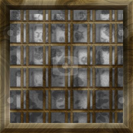 Shoji stock photo, Asian Themed Design Shoji Window Clip Art Background by Kheng Ho Toh