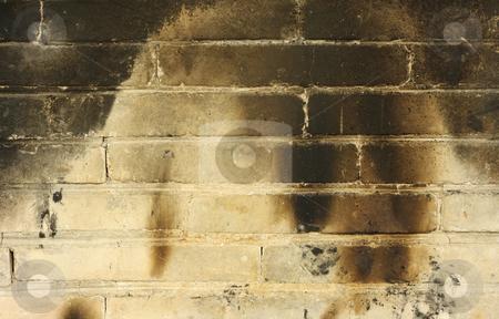 Burnt Brickwall stock photo, Burnt brickwall background by Georgios Kollidas